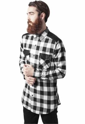 Camasi urban insertii piele negru-alb Urban Classics
