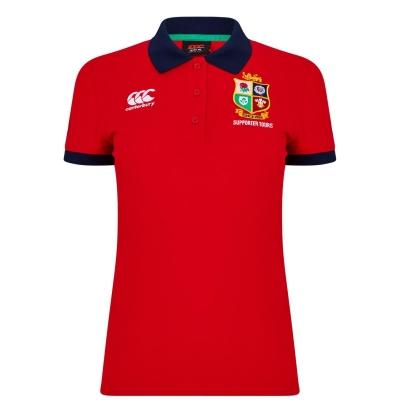 Tricouri Polo Canterbury British And Irish Lions bumbac pentru Femei rosu