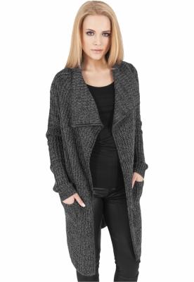 Cardigan dama tricotat gri-carbune Urban Classics