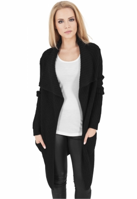 Cardigan dama tricotat negru Urban Classics