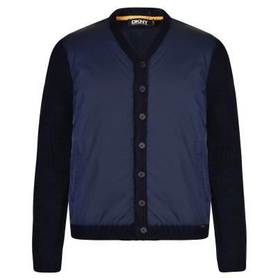 Cardigan DKNY tricot inchis bleumarin