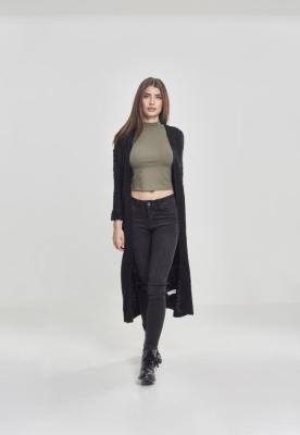 Cardigan lung tricot pentru Femei negru Urban Classics