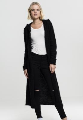 Cardigan pufos cu gluga pentru Femei negru Urban Classics