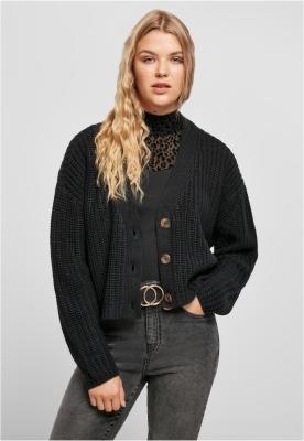 Cardigan supradimensionat pentru Femei negru Urban Classics