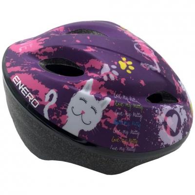 Casca bicicleta For ajustabil Love Kitty 51-53 Cm Enero mov-roz 1011066 pentru Copii