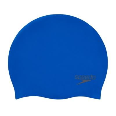 Casca inot silicon Speedo pentru adulti fosforescent albastru