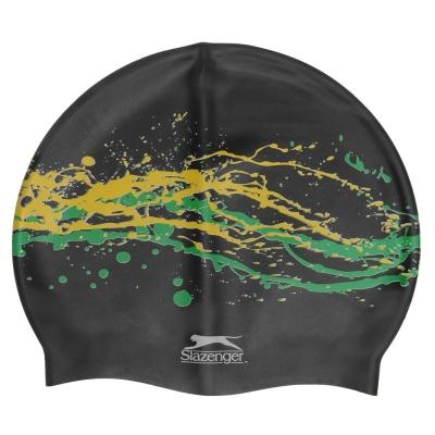 Casca inot Slazenger Print negru galben verde