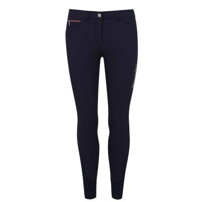Pantaloni echitatie Breeches Cavallo Calima Grip pentru Femei bleumarin