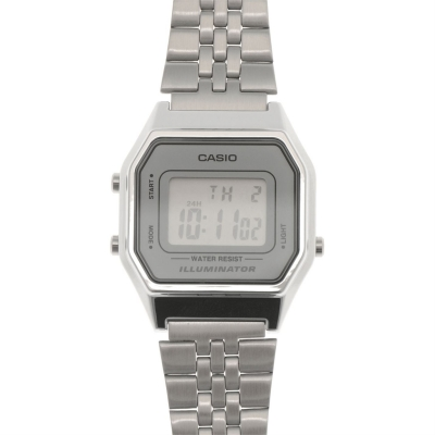 Ceas Casio clasic Alarm argintiu