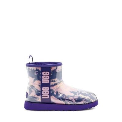 Cizme cauciuc ploaie Ugg Ugg Clear Ld14 violet bleumarin