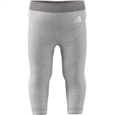 Colanti adidas 3-Stripes Slim pentru fete gri alb