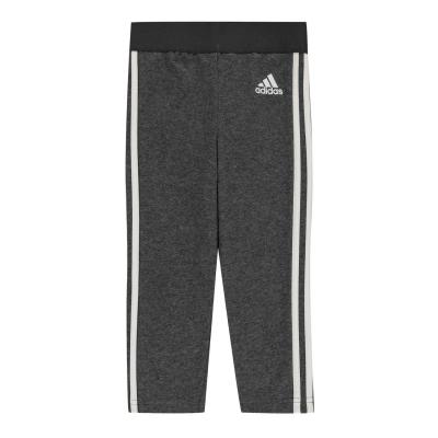 Colanti adidas 3-Stripes Slim pentru fete gri inchis alb