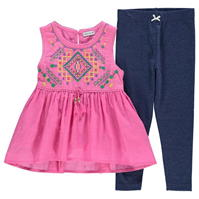 Colanti Crafted Embroidered Top and Set Child pentru fete