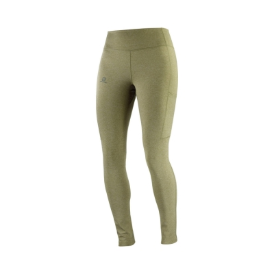 Colanti Drumetie Femei Salomon OUTLINE TIGHT W Kaki