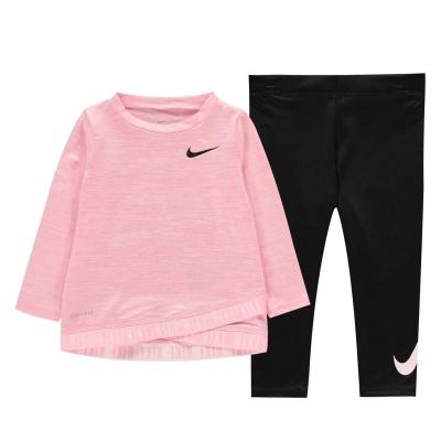 Colanti Nike Crossover Two Piece Top And pentru fete roz negru