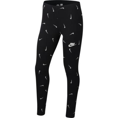 Colanti Nike Sportswear pentru fetite negru swooshfett