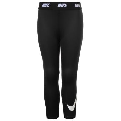 Colanti Nike Swoosh pentru fete pentru Bebelusi negru