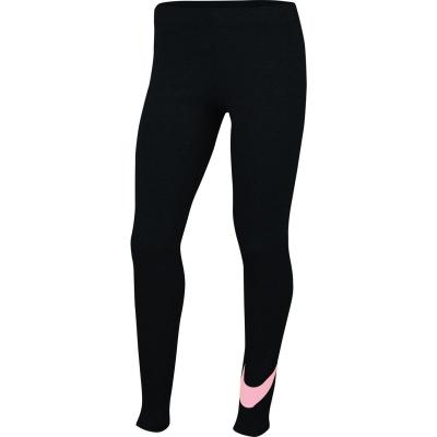 Colanti Nike Swoosh pentru fetite negru roz