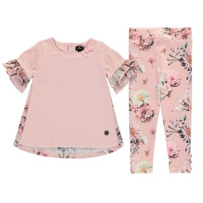 Colanti Set Firetrap 2 Piece pentru fete pentru Bebelusi roz floral