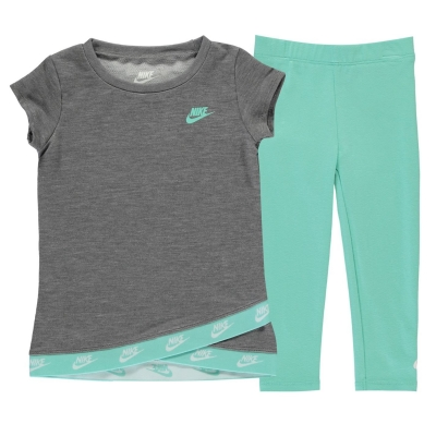 Set bebelusi Colanti Nike and Top pentru fete verde rise