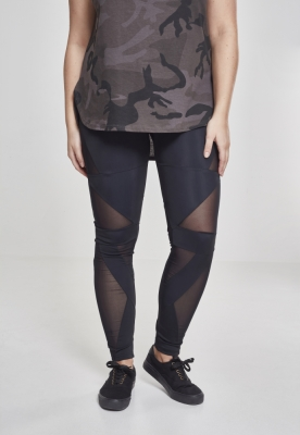 Colanti Triangle cu plasa pentru Femei negru-negru Urban Classics