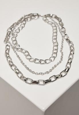 Colier dublu clasic argintiu Urban Classics