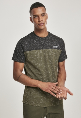 Color Block Tech Tee marled-oliv Southpole