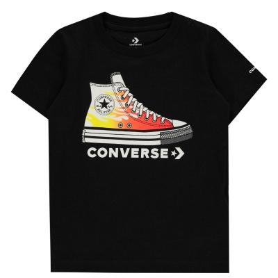 Tricou Converse Print pentru baietei pentru baieti negru