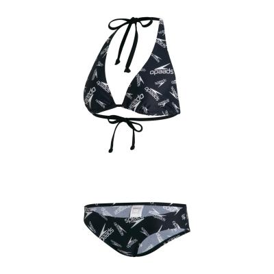 Costum de baie bikini Speedo AO pentru Femei negru alb