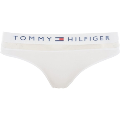 Costum de baie bikini Tommy Bodywear Sheer Flex alb