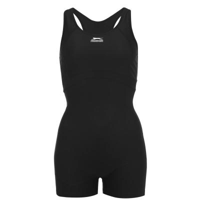Costum de baie intreg cu pantaloni scurti Slazenger pentru Femei negru