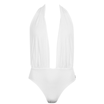 Costum de Inot Sian Marie Mila Multiway cu doua fete One-Piece alb