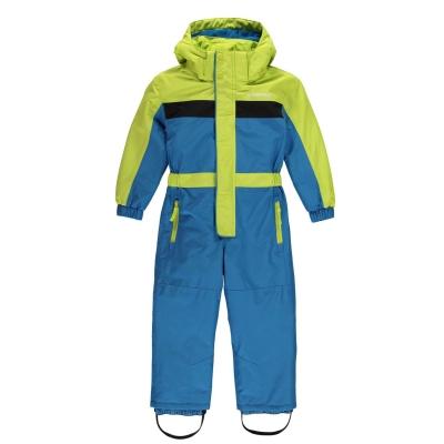 Costum Ski Campri Unisex pentru Bebelusi albastru negru