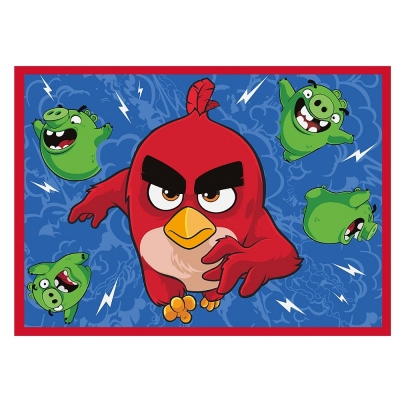 Covor Camera Copii Furious Angry Birds 95x133 Cm Antiderapant
