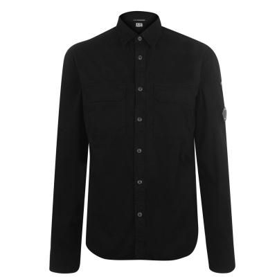 CP COMPANY Lens Double Chest Shirt negru