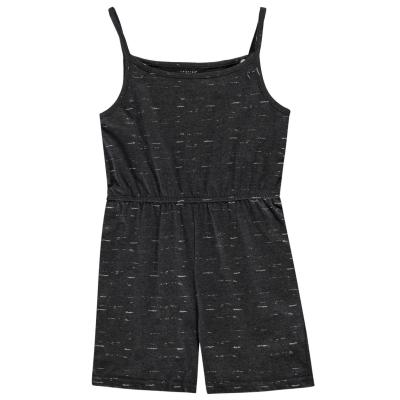 Crafted Jersey Play Suit pentru fetite gri glit