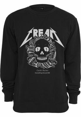 Cream Skull Crewneck negru Mister Tee