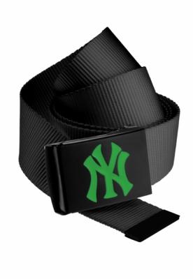 Curea material textil MLB Premium negru Single verde MasterDis