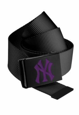Curea material textil MLB Premium negru Single mov MasterDis