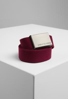 Curele panza barbati rosu burgundy Urban Classics