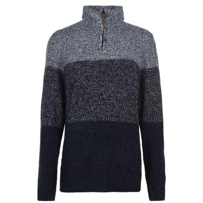 D555 Savannah tricot cu fermoar pentru Barbati bleumarin
