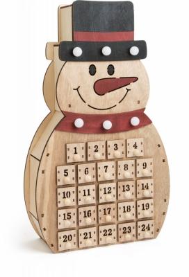 Decor Craciun Calendar Advent Snowman 40 Cm