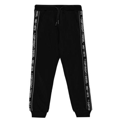 Pantaloni jogging Diesel Tape Logo negru