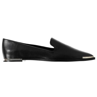 DKNY Lona din piele Flat Pumps negru gld bgd