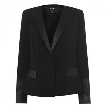 Sacou DKNY PU Detail negru