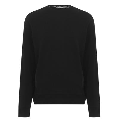 Bluze cu guler rotund DKNY Sport cu buzunar negru
