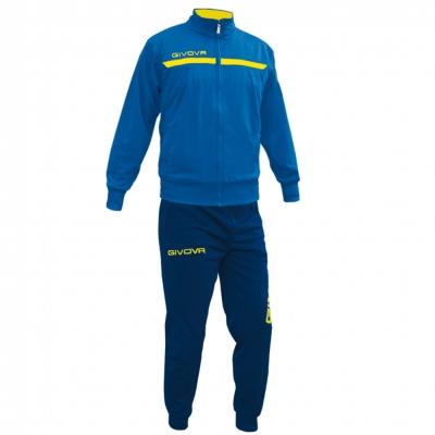 Echipament antrenament TUTA GIVOVA ONE cu fermoar Givova albastru galben