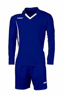 Echipament fotbal Cristallo Blu Bianco Max Sport