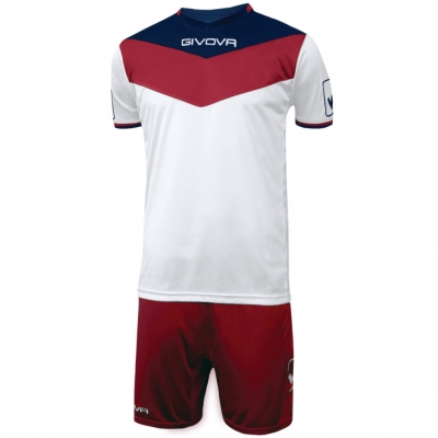 Echipament fotbal KIT CAMPO Givova rosu alb