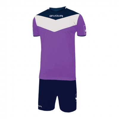 Echipament fotbal KIT CAMPO Givova violet albastru
